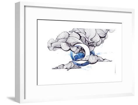 Moon-okalinichenko-Framed Art Print