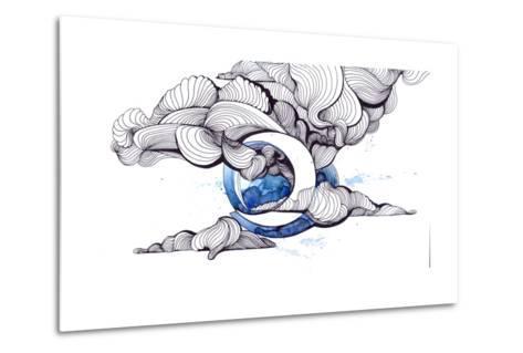 Moon-okalinichenko-Metal Print