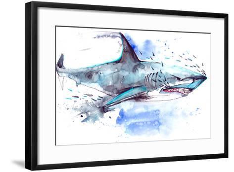 Shark-okalinichenko-Framed Art Print