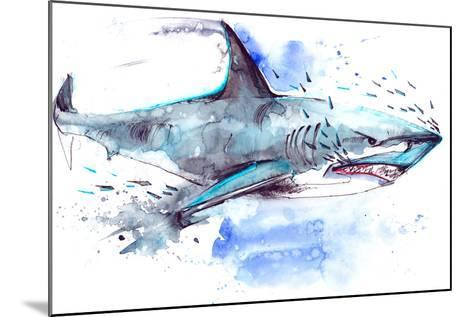 Shark-okalinichenko-Mounted Art Print