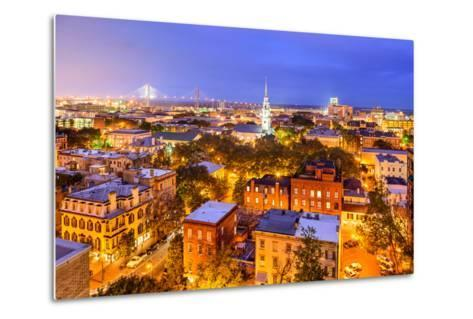 Savannah, Georgia, USA Skyline.-SeanPavonePhoto-Metal Print