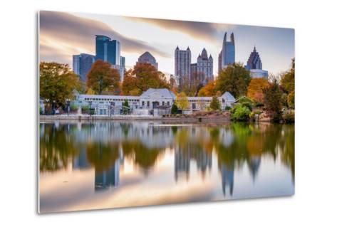 Atlanta, Georgia, USA Autumn Skyline from Piedmont Park.-SeanPavonePhoto-Metal Print