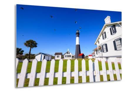 Tybee Island Light House of Tybee Island, Georgia, Usa.-SeanPavonePhoto-Metal Print