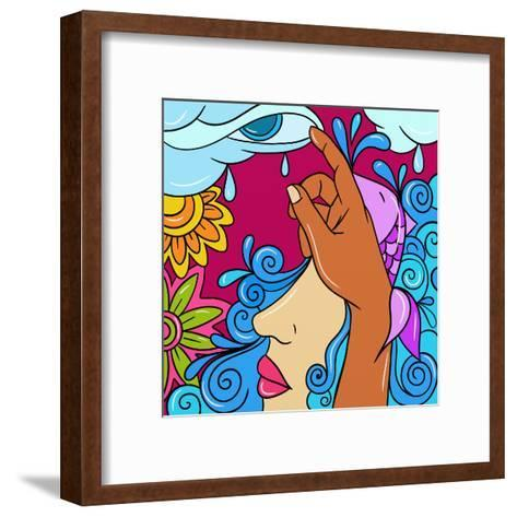 Mother Nature-goccedicolore-Framed Art Print