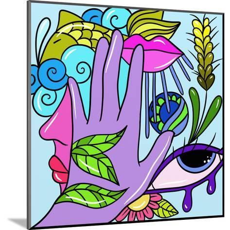 Hand and Fish-goccedicolore-Mounted Art Print