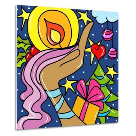 Abstract Christmas-goccedicolore-Metal Print