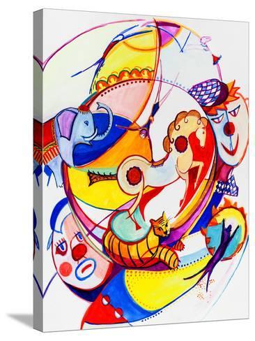 Circus-krimzoya46-Stretched Canvas Print