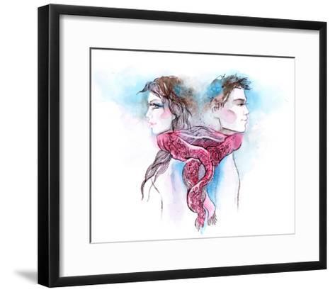 Nuptial Knot-okalinichenko-Framed Art Print