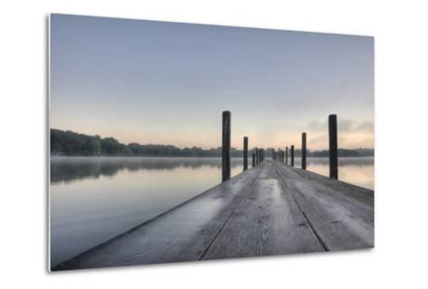 HDR of Sunrise on Lake Okoboji-dosecreative-Metal Print