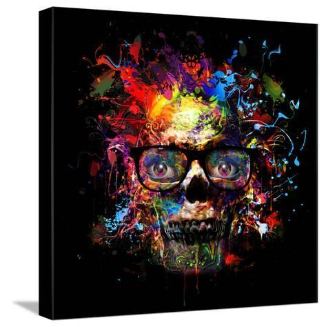Skull in Glasses-reznik_val-Stretched Canvas Print