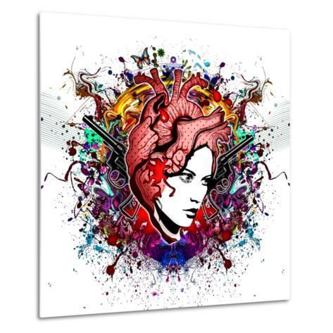 Lady in Color-reznik_val-Metal Print