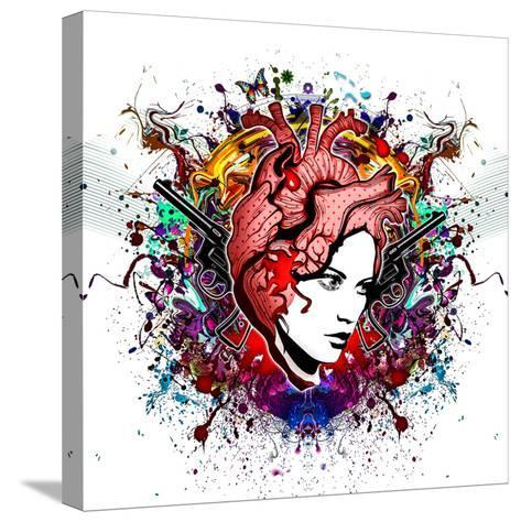 Lady in Color-reznik_val-Stretched Canvas Print