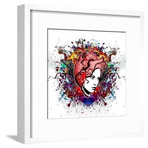 Lady in Color-reznik_val-Framed Art Print