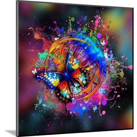 Butterfly Multicolor-reznik_val-Mounted Art Print