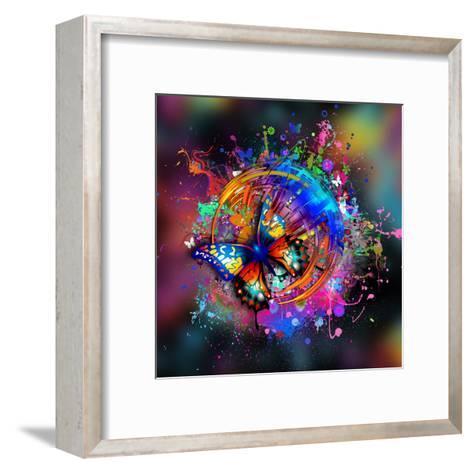 Butterfly Multicolor-reznik_val-Framed Art Print