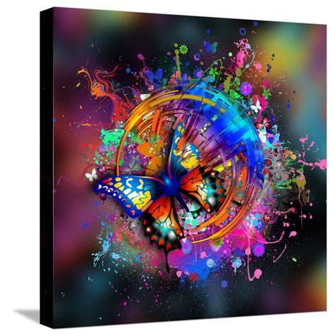 Butterfly Multicolor-reznik_val-Stretched Canvas Print
