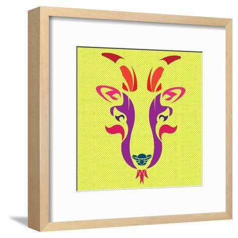 THE OPERA GOAT- giantapplelim-Framed Art Print