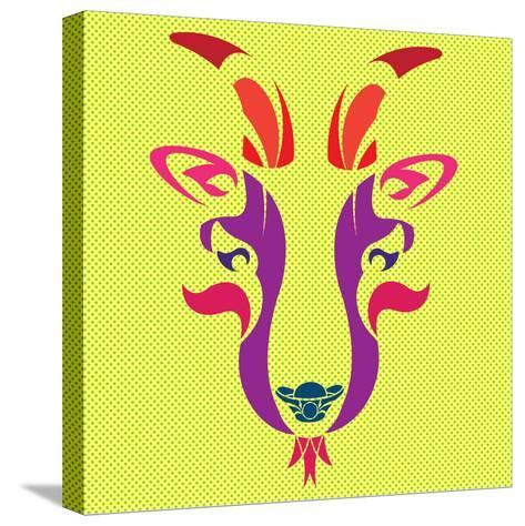 THE OPERA GOAT- giantapplelim-Stretched Canvas Print