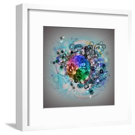 Mixed Cogs-reznik_val-Framed Art Print