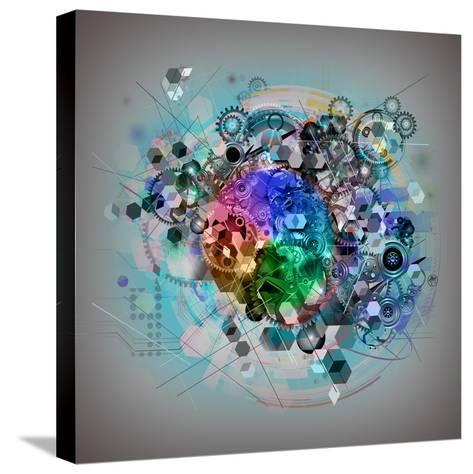 Mixed Cogs-reznik_val-Stretched Canvas Print