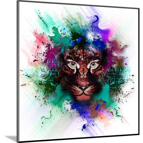 Tiger-reznik_val-Mounted Art Print