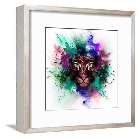 Tiger-reznik_val-Framed Art Print