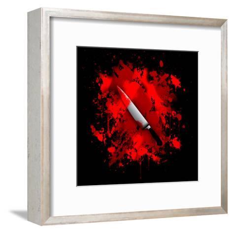 Knife-reznik_val-Framed Art Print