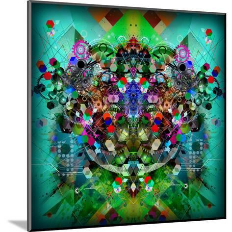 Abstract Symmetry-reznik_val-Mounted Art Print