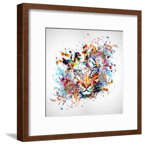 Tiger-reznik_val-Framed Art Print