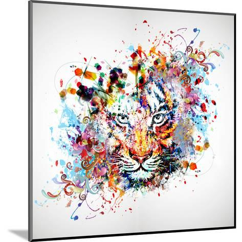 Tiger-reznik_val-Mounted Art Print