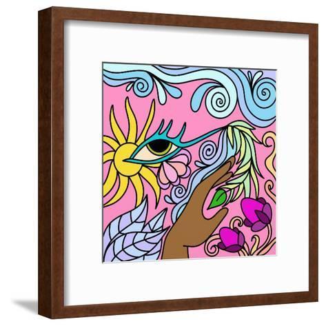 Astratto Fantasia-goccedicolore-Framed Art Print
