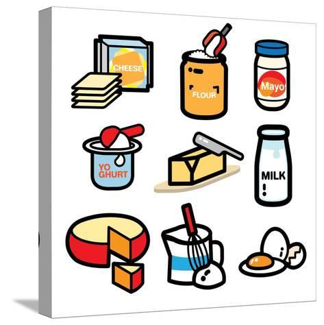 DAIRY PRODUCT- giantapplelim-Stretched Canvas Print