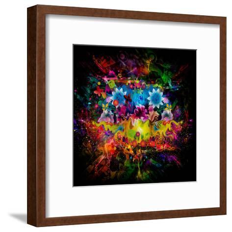 Flowers Abstract-reznik_val-Framed Art Print