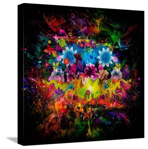 Flowers Abstract-reznik_val-Stretched Canvas Print