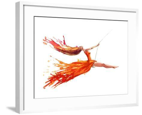 Swing-okalinichenko-Framed Art Print