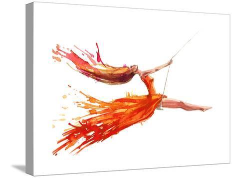 Swing-okalinichenko-Stretched Canvas Print