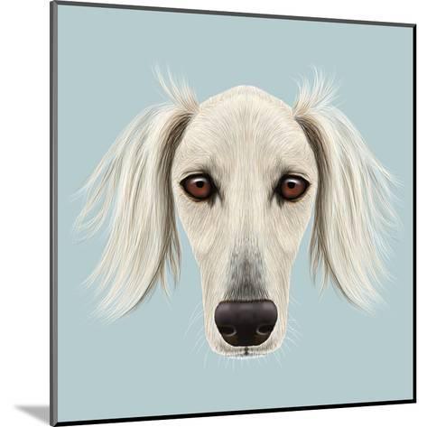 Illustrated Portrait of Saluki Dog-ant_art19-Mounted Art Print