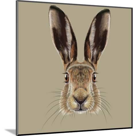 Illustrated Portrait of Hare-ant_art19-Mounted Art Print