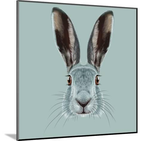 Illustrated Portrait of Hare.-ant_art19-Mounted Art Print