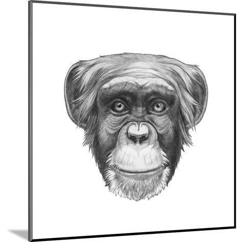 Original Drawing of Monkey. Isolated on White Background.-victoria_novak-Mounted Art Print