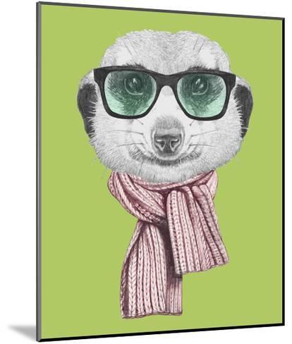 Portrait of Mongoose. Hand Drawn Illustration.-victoria_novak-Mounted Art Print