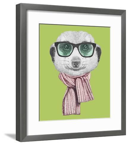 Portrait of Mongoose. Hand Drawn Illustration.-victoria_novak-Framed Art Print