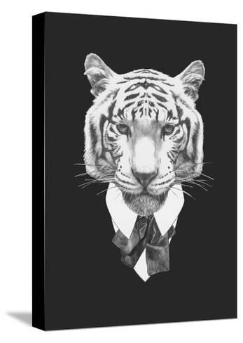 Portrait of Tiger in Suit. Hand Drawn Illustration.-victoria_novak-Stretched Canvas Print