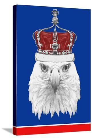 Portrait of Eagle with Crown. Hand Drawn Illustration.-victoria_novak-Stretched Canvas Print