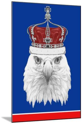 Portrait of Eagle with Crown. Hand Drawn Illustration.-victoria_novak-Mounted Art Print