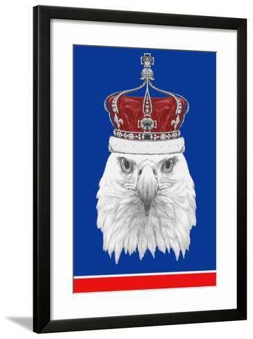 Portrait of Eagle with Crown. Hand Drawn Illustration.-victoria_novak-Framed Art Print