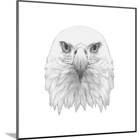 Portrait of Eagle. Hand Drawn Illustration.-victoria_novak-Mounted Art Print