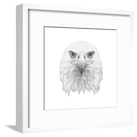 Portrait of Eagle. Hand Drawn Illustration.-victoria_novak-Framed Art Print