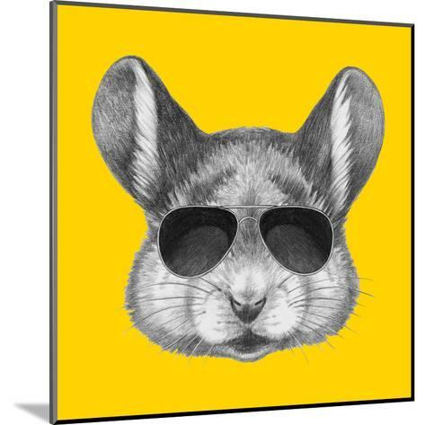 Portrait of Mouse with Sunglasses. Hand Drawn Illustration.-victoria_novak-Mounted Art Print