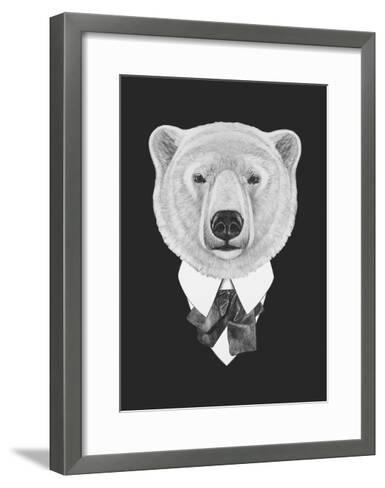 Portrait of Polar Bear in Suit. Hand Drawn Illustration. Art Print ...